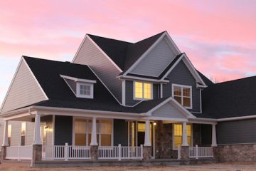 Shot of Craftsman style home at sunset in pennsylvania built by Rotell(e) Studio(e)