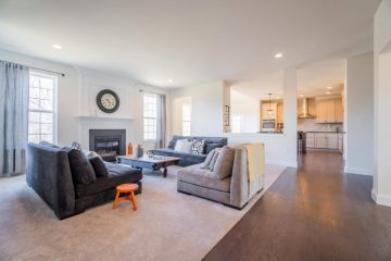 Picture of custom living room design