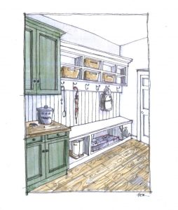 Cartoon drawing of a pantry
