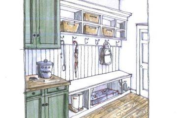 Cartoon drawing of a pantry